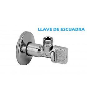 LLAVE ESCUADRA 1/2 x 3/8 + FLORÓN