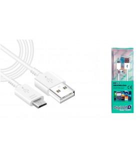 CABLE CARGA + DATOS MICRO USB 2400 MAH