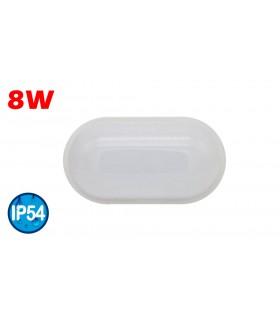 PLAFÓN LED OVAL 8W IP54 6500K
