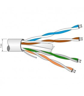 MTS CABLE DATOS UTP CAT6 6.2 MM. TELEVES