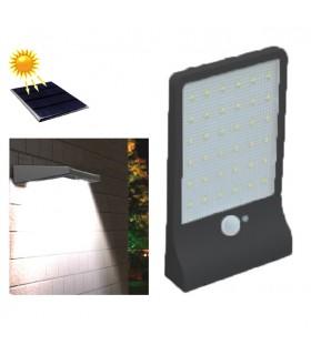 APLIQUE LED SOLAR NEGRO 3W + SENSOR