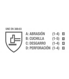 GUANTE ALGODÓN + LATEX GRIS Nº8 CATEGORIA