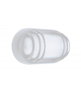 APLIQUE OVAL BLANCO CON REJILLA IP44 FEN