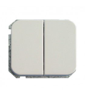 INTERRUPTOR DOBLE BLANCO SERIE 1000