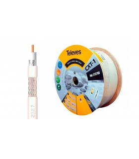 MTS. COAXIAL TV CU-AL CXT1 1MM 250 MTS. BLANCO. TELEVES