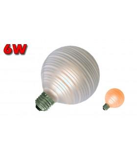 GLOBO LED E27 6W 2700K ÁMBAR LINEAS