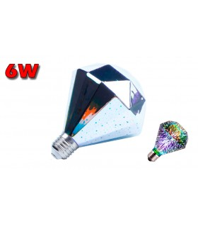 DIAMANTE LED E27 6W 2700K GLOBO EFECTO 3D