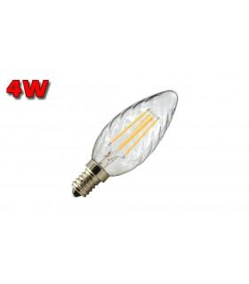 VELA LED E14 4W CLARA 2700K FILAMENTO TORNADO