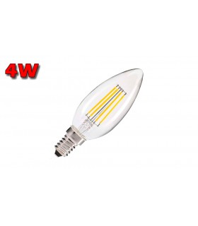 VELA LED E14 4W CLARA 3000K FILAMENTO