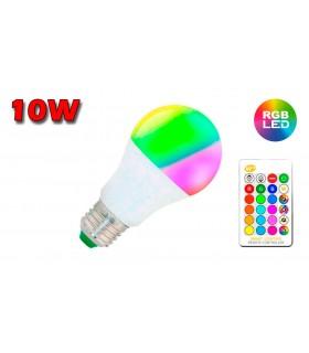 LÁMPARA ESTANDAR LED E-27 10W RGB