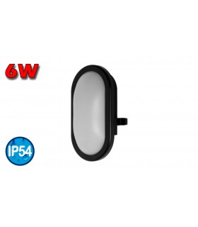 APLIQUE LED 6W 840 NEGRO OSRAM
