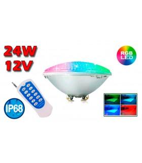 LÁMPARA LED PAR-56 12V 24W RGB