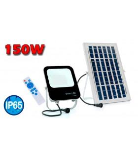 PROYECTOR LED SOLAR 150W 6000K CON MANDO