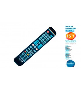 MANDO TV UNIVERSAL 15 EN 1 CON LUZ LED
