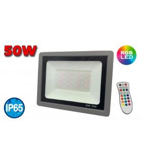 PROYECTOR LED 50W RGB CON MANDO