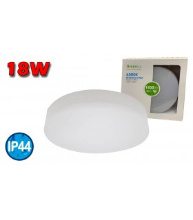 PLAFÓN LED REDONDO IP44 18W 6500K