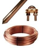 Picas cobre, cobre desnudo y accesorios